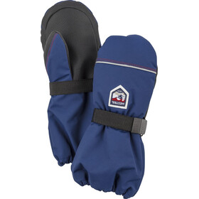 Hestra Wool Terry Mitones Niños, medium blue